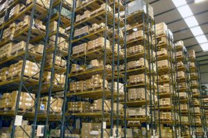 High Bay Pallet Racking in Warehouse
