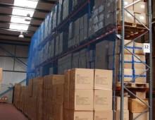 Rack Net Install in Warehouse