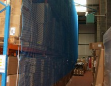 Back of Racking Protective Net Installation