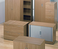 Timber Office Storage Cabinets