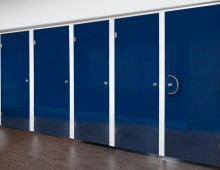 Blue Washroom Cubicles