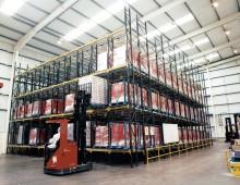 Pallet Live Racking Storage in Huddersfield