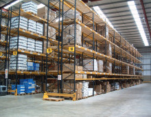 Wide Aisle Pallet Racking c/w Barrier