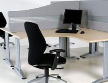 Office Screens on Desk