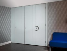 Komfort Washroom System in partitioning
