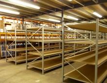 new shelving install ready for goods