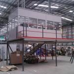 Steel Office On Mezzanine Floor Build