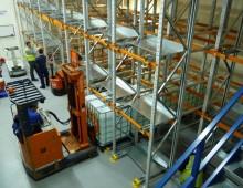 Loading the Push Back Pallet Racking