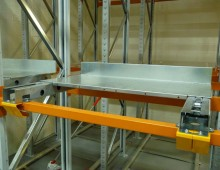 Individual Push Back Pallet Racking Position