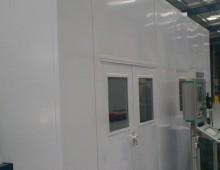 double door steel warehouse partition