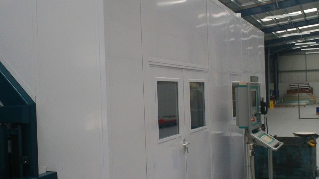 double door steel warehouse partition