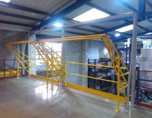 Mezzanine with Double Pallet gate