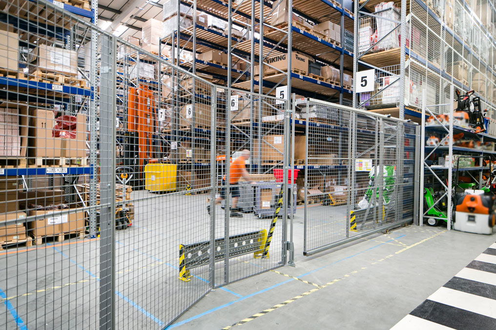 mesh partitioning in warehouse