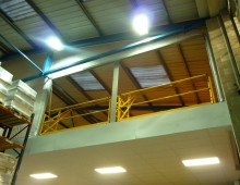 Storage Mezzanine Floor With Twin Pallet Gates
