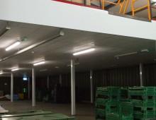 Fire rated storage mezzanine floor