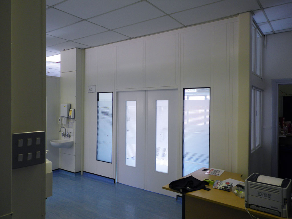 steel double skin partitions