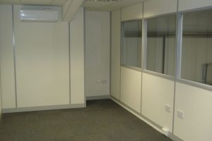 Part glazed office partitions installed in Bradford