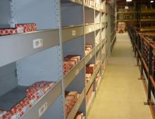 warehouse euro shelving on mezzanine floor