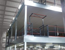 Fire rated multi tier warehouse mezzanine floor