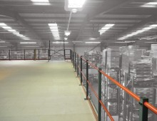 Warehouse Mezzanine Floor Top Level With Hand Rail