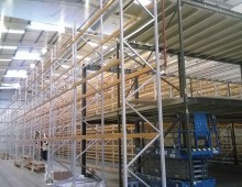 Two tier shelving with mezzanine