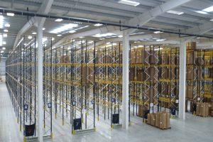 Large scale narrow aisle racking installation