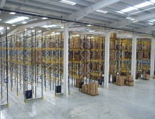 commercial scale racking project