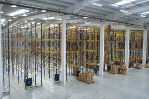 commercial scale narrow aisle racking project