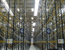 racking installation in warehouse