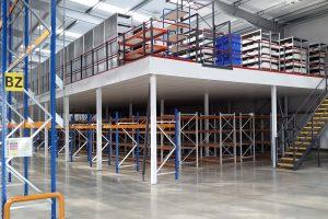Fire rated warehouse mezzanine floor for logistics company