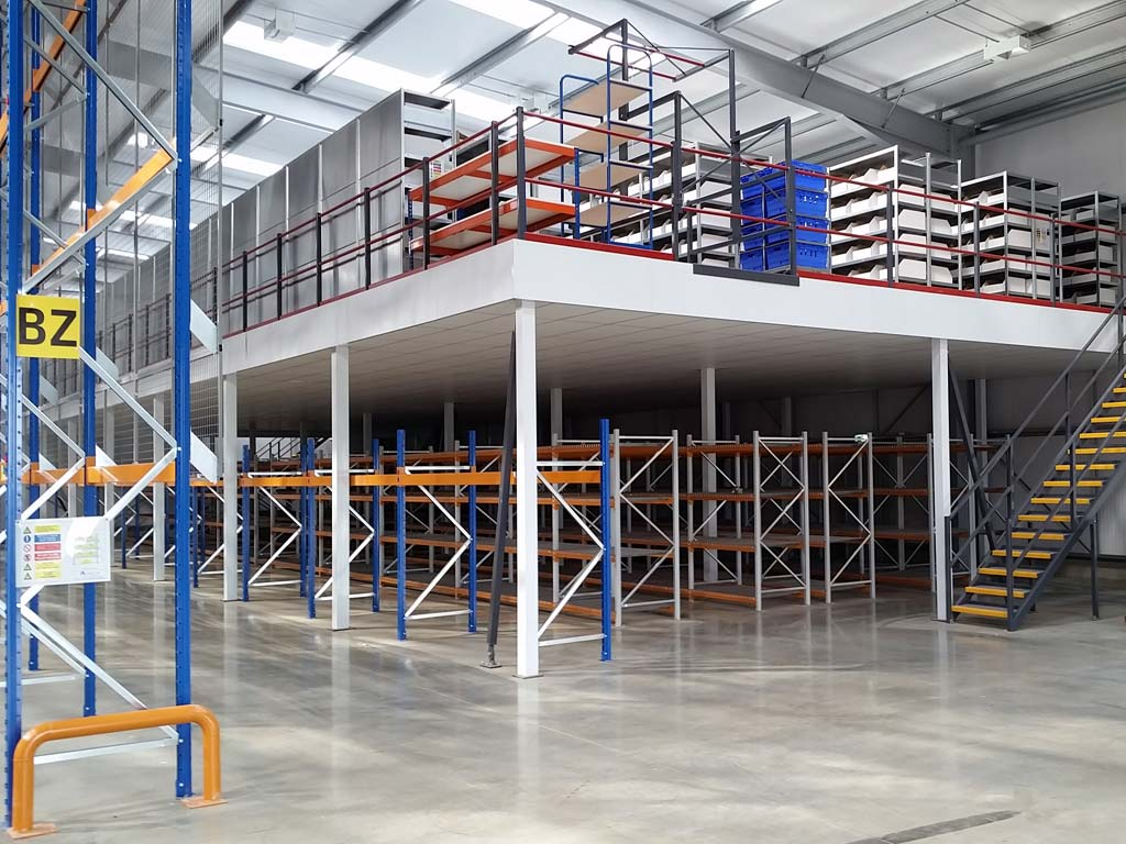Fire rated warehouse mezzanine floor for logistics company