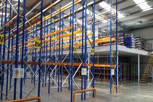 Narrow Aisle Pallet Racking and Mezzanine Floor