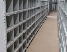 Compartment warehouse shelving