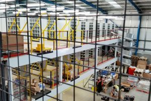 Multi-tier Mezzanine Floor & Shelving Project For GROUPAUTO
