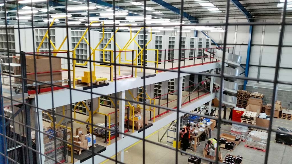 Multi-tier Mezzanine Floor & Shelving Project For GROUPAUTO