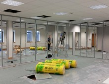 Office partitions in Leeds WIP