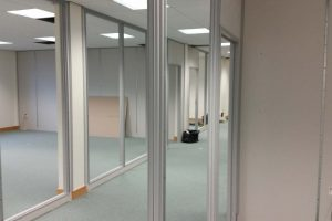 Work in progress office partitioning