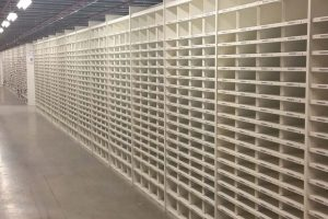 Warehouse shelving prior to loading
