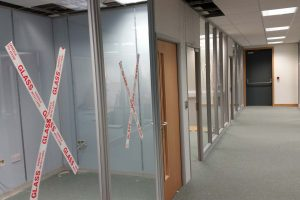 Office glazed partitions installation in Leeds
