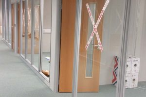 Glazed office partitions leeds