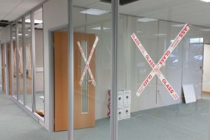 Glass office partitions project