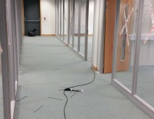 Office fit out project work in progress