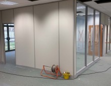 Solid and glazed office partitions