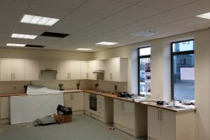 kitchen facility within office environment