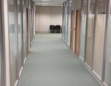 600 Series Office Partitions Corridor