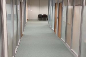 Office partitioned corridor