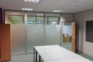 Office glass privacy
