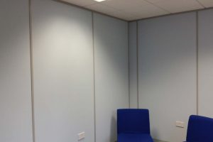 Solid office partitions