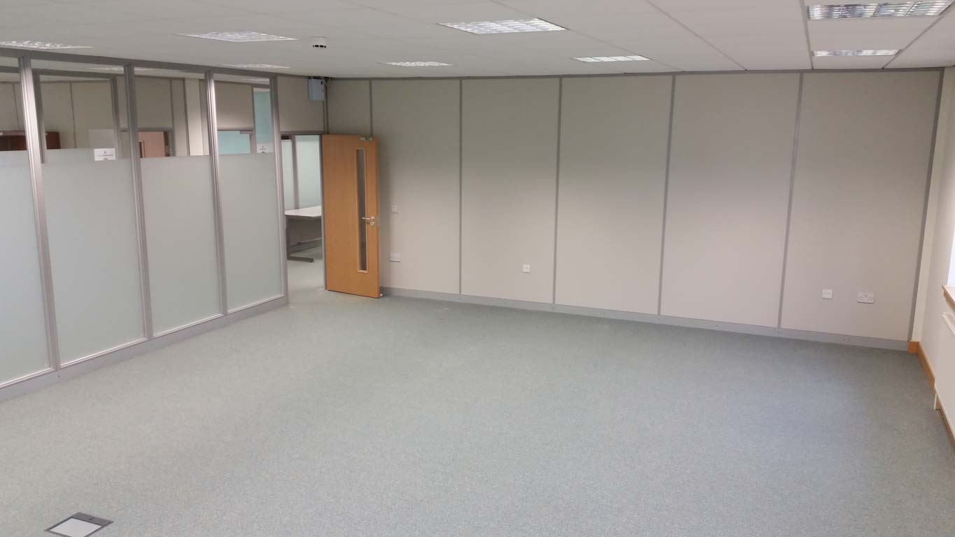 600 Series Office Partitions From Plasterboard And Glass