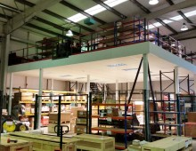 Fire rated mezznaine floor